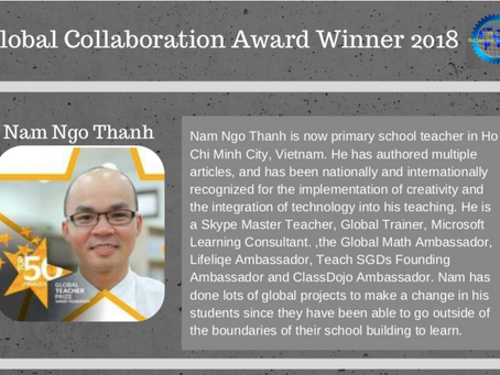 Presenting the Game Changer:  2018 ISTE Global Collaboration winner, Nam Ngo Thanh!