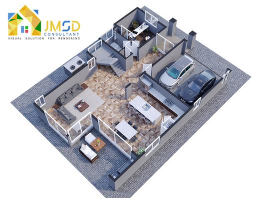 3D Home Floor Plan Rendering Services Miami Beach Florida