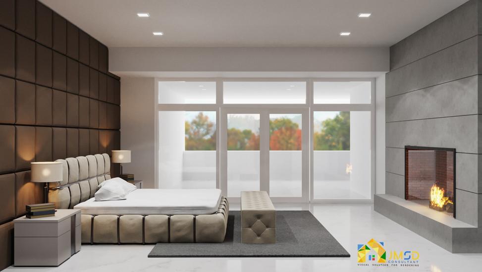 Master Bedroom Interior Design Rendering Huntingdon Valley PA