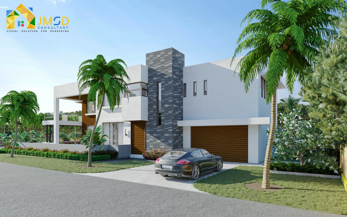 Residential 3D Home Renderings with Landscape Design in Jacksonville Florida