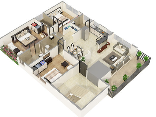 3D Floor Plan Rendering Servics