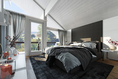 Modern Bedroom 3D Rendering Services USA