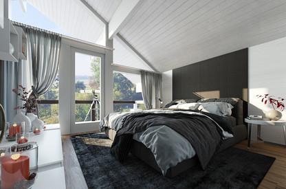 Modern Bedroom 3D Rendering Services