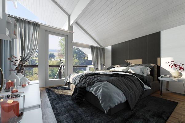 Modern Bedroom 3D Rendering Services USA