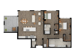 2D Color Floor Plan Rendering Los Angele