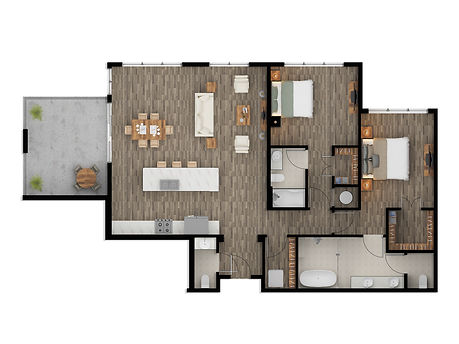 2D Color Floor Plan Rendering Los Angele