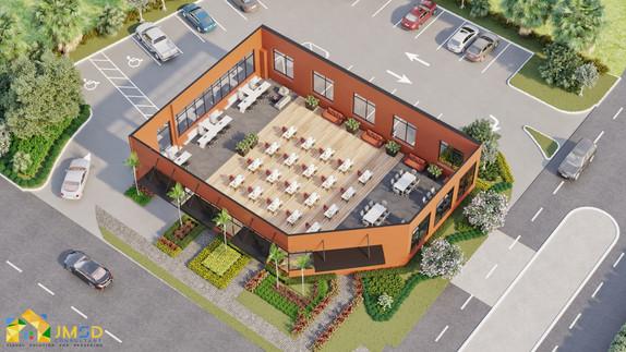 Architectural 3D Site Plan Rendering with landscape Details USA
