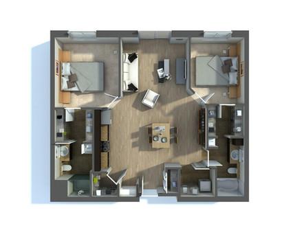 3D Floor Plan Renderings Services