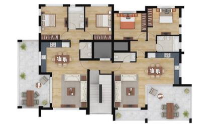 2D Floor Plan Rendering Services