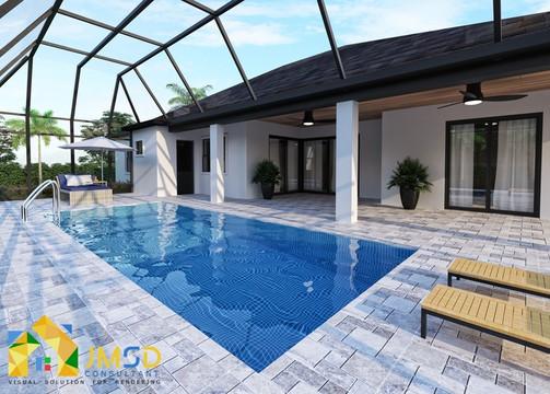 Swimming Pool Design Rendering Sarasota FL