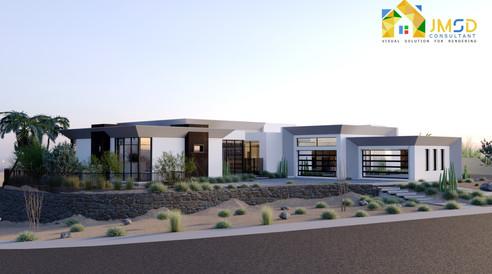 3D Property Rendering for Exterior Design of Modern Villa