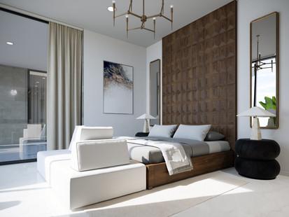 Modern Bedroom Rendering Services San Fr