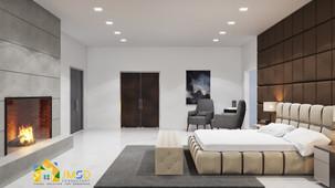 3D Master Bedroom Interior Design Rendering