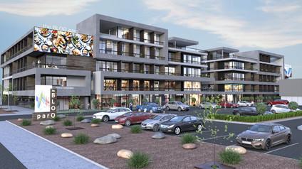 3D Exterior Rendering for Shopping Mall Design Visualization Arlington Texas