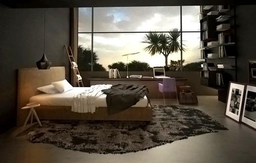 Interior 3D Architectural Rendering Services Zurich, Switzerland for Modern Bedroom