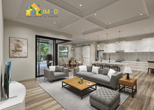 3D Photorealistic Interior Rendering for Livingroom and Kitchen Design