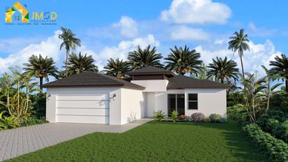 3D House Elevation Rendering Naples Florida