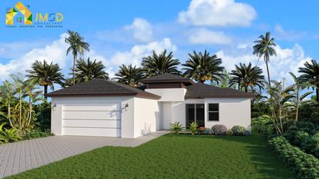 3D Elevation Visualization for House Naples Florida