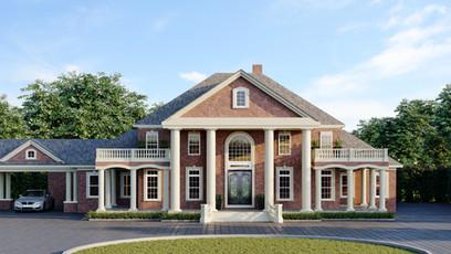 Classic Villa Home Exterior Design Rendering St Louis MO United States