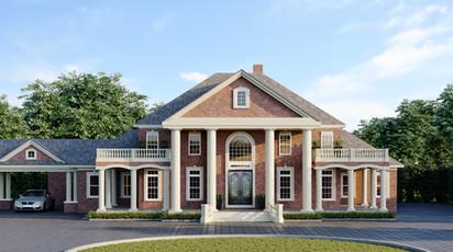 Classic Villa Home Exterior Design Rendering Saint Louis Missouri USA