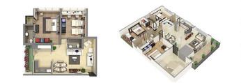 Photorealistic 3D Floor Plan Rendering