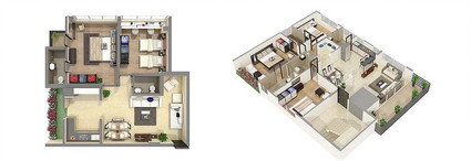 Photorealistic 3D Floor Plan Rendering