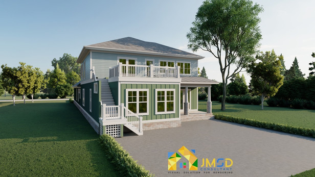 3D Exterior Design of House Rendering Myrtle Beach South Carolina