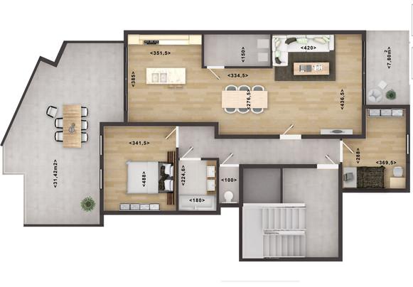2D Floor Plan Rendering with Texture Australia
