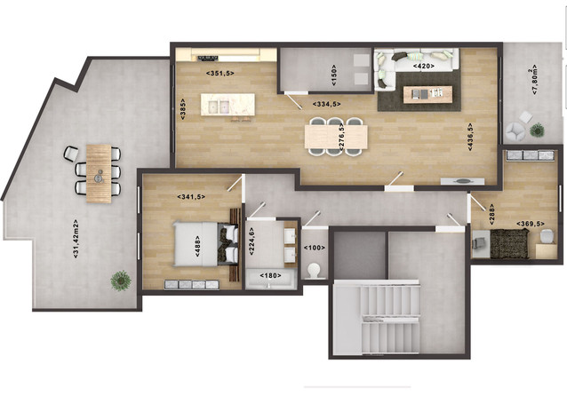 2D Floor Plan Rendering with Texture Australia