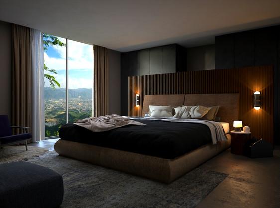 Master Bedroom Presentation 3D Interior Rendering Design Dublin Ireland