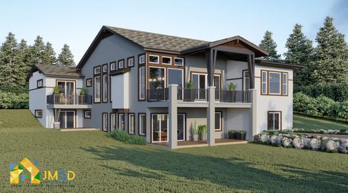 Back view Exterior Residential Home Design   Colorado Springs Colorado