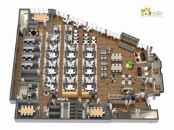 3D Commercial Floor Plan Rendering Services