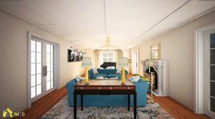 Elegant living Room Interior Design Rendering Services NYC