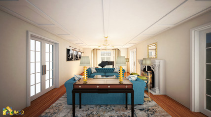Architectural Rendering Services NYC: Elegant living Room Design
