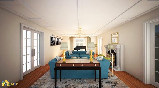 Architectural Rendering Services NYC: Elegant living Room Design