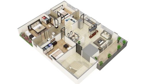 Floor Plan Design Rendering
