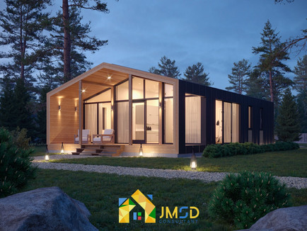 Exterior Architectural Rendering Services Chicago Illinois for Night View