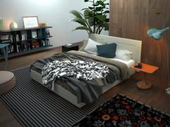 Modern Bedroom 3D Interior Rendering Berlin Germany
