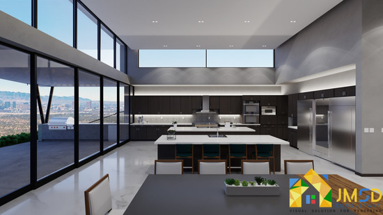 CONCEPT OF KITCHEN DININGROOM 3D INTERIOR RENDERING FORT WORTH TEXAS USA