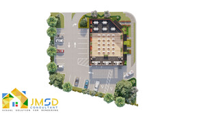 Architectural 3D Floor Plan Rendering With Landscape Details USA