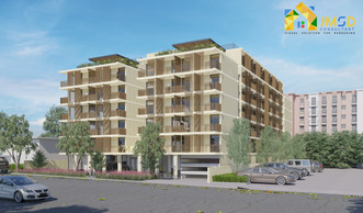 Perspective view of Multiple Family Building Rendering Oakland California