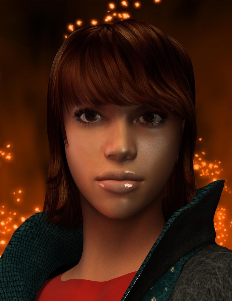 female 3d character design