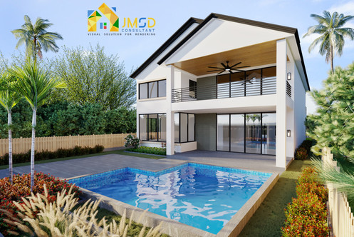 3D Home Renderings with Landscape Fort Lauderdale Florida