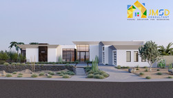 Architectural 3D Exterior Rendering Services For Villa