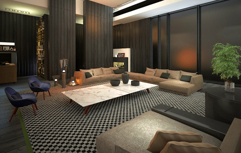 CONTEMPORARY LIVING ROOM 3D INTERIOR DESIGN MELBOURNE AUSTRALIA