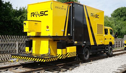 via permanente curso ferrovia trilho radar de penetração no solo GPR