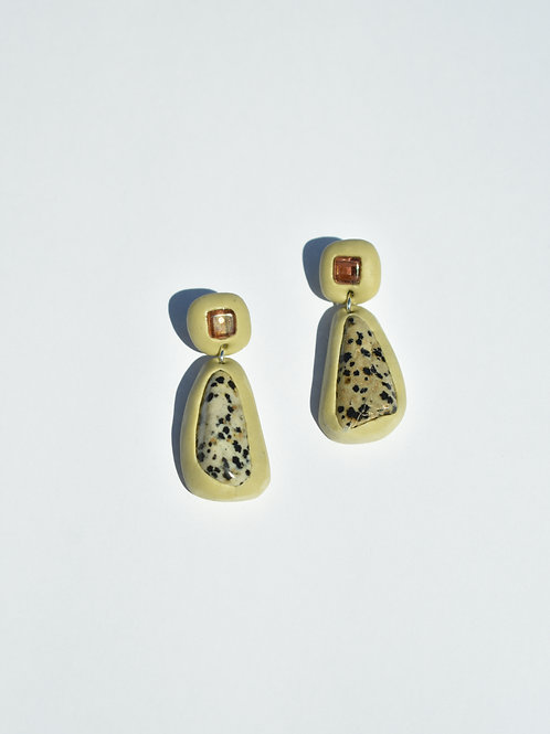 Pistachio Jasper Earrings