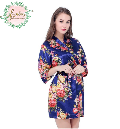 Blue Flowered Robe