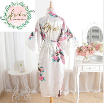Long Bridal Robe