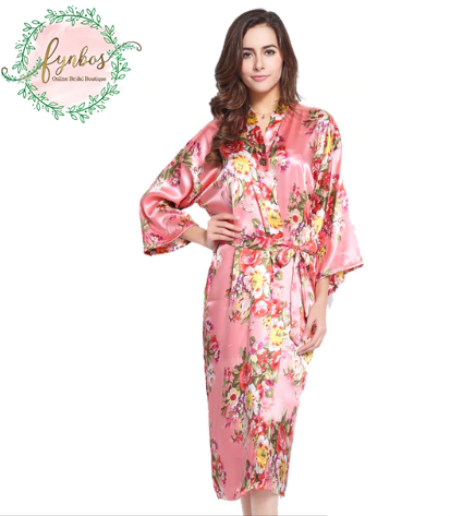 Pink Flowered Robe